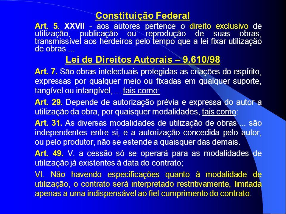 Lei de Direitos Autorais – 9.610/98