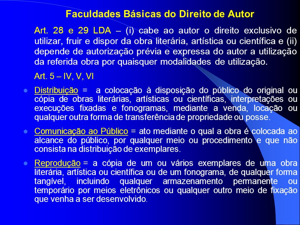 Faculdades Básicas do Direito de Autor
