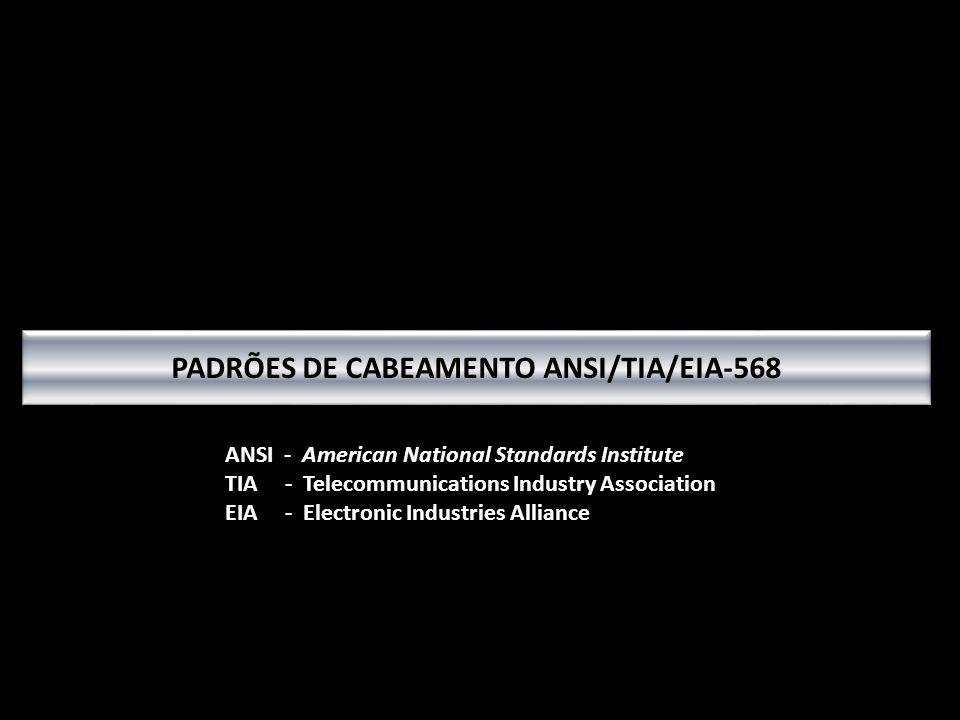 PADRÕES DE CABEAMENTO ANSI/TIA/EIA-568