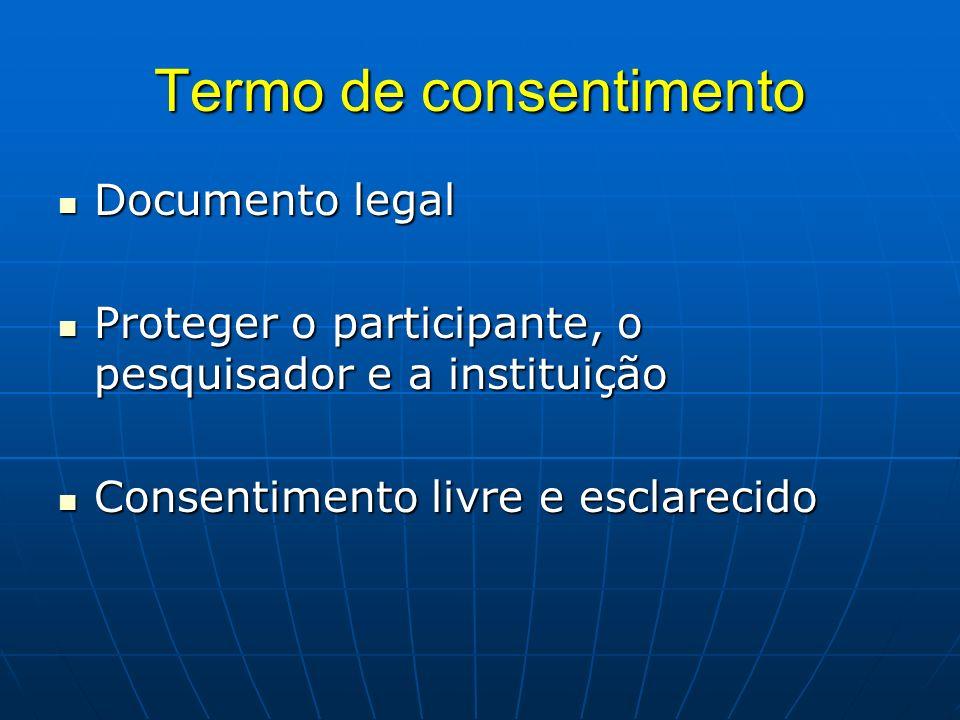 Termo de consentimento