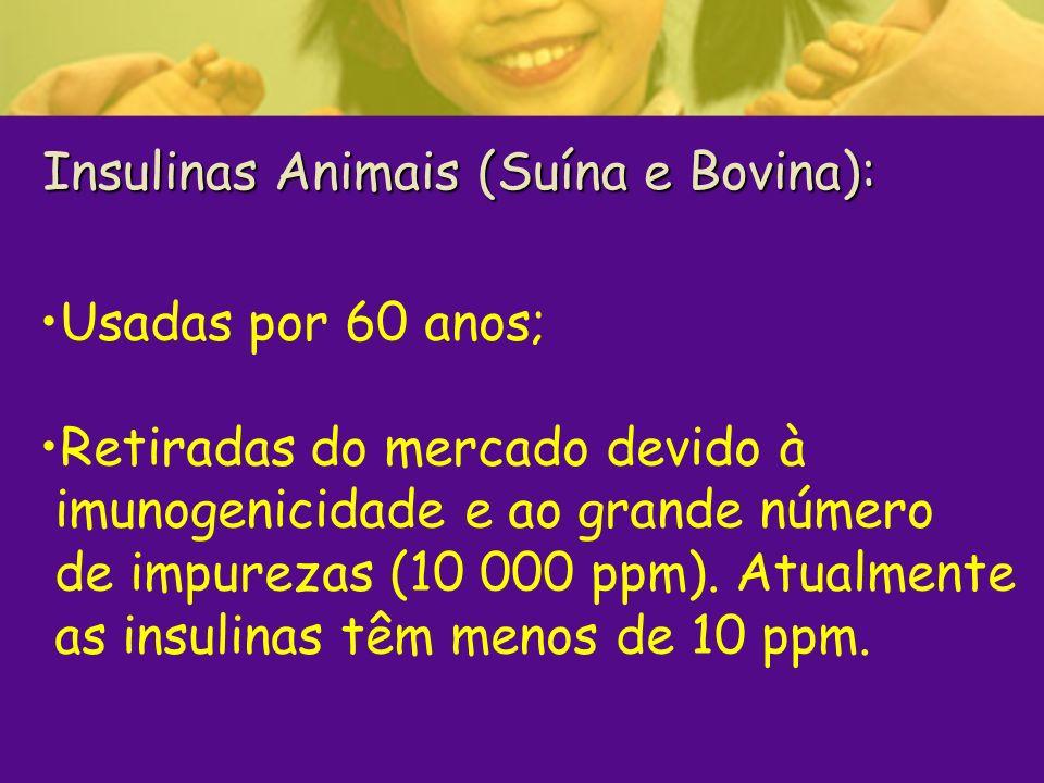 Insulinas Animais (Suína e Bovina):