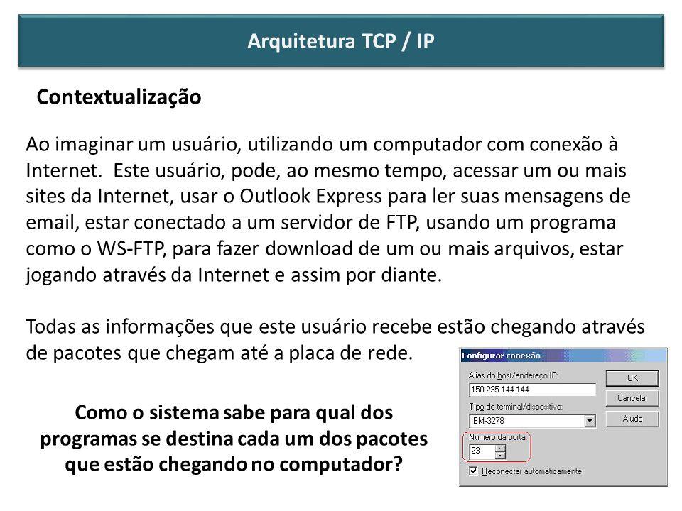 Contextualização Arquitetura TCP / IP