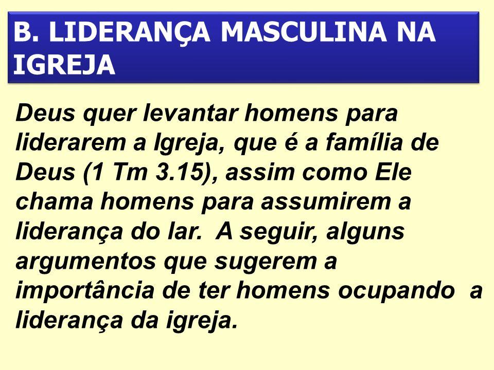 B. LIDERANÇA MASCULINA NA IGREJA