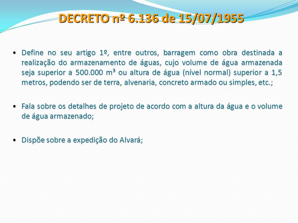 DECRETO nº 6.136 de 15/07/1955