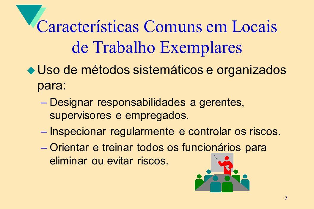 Características Comuns em Locais de Trabalho Exemplares