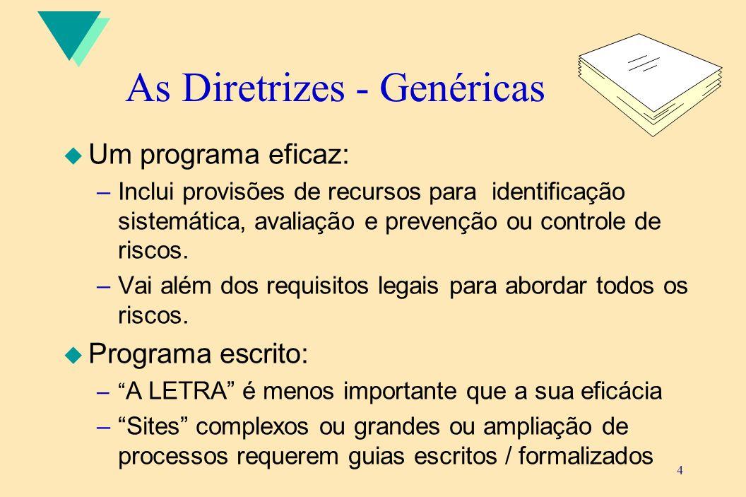 As Diretrizes - Genéricas