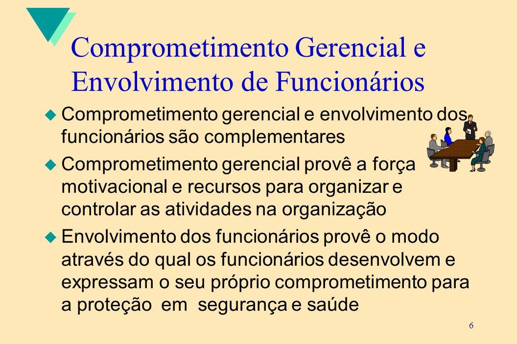Comprometimento Gerencial e Envolvimento de Funcionários