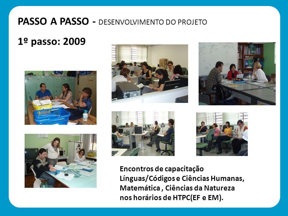PASSO A PASSO - DESENVOLVIMENTO DO PROJETO 1º passo: 2009