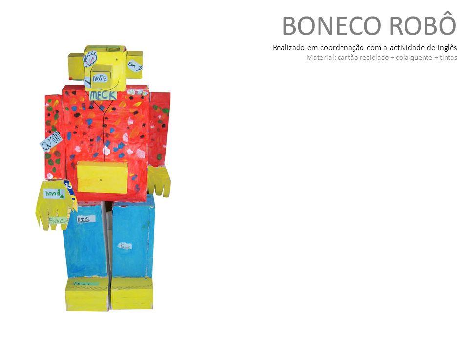 BONECO ROBÔ Realizado em coordenação com a actividade de inglês