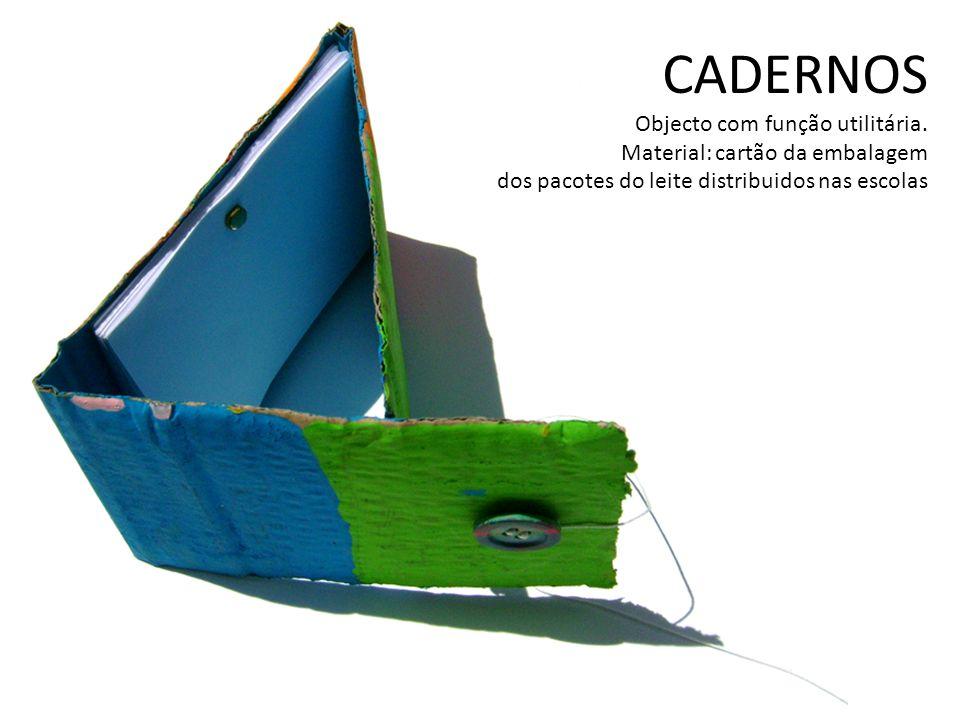 CADERNOS Objecto com função utilitária