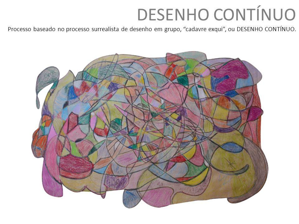 DESENHO CONTÍNUO Processo baseado no processo surrealista de desenho em grupo, cadavre exqui , ou DESENHO CONTÍNUO.