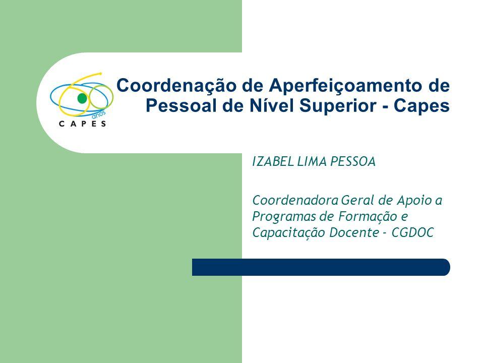 Coordenação de Aperfeiçoamento de Pessoal de Nível Superior - Capes