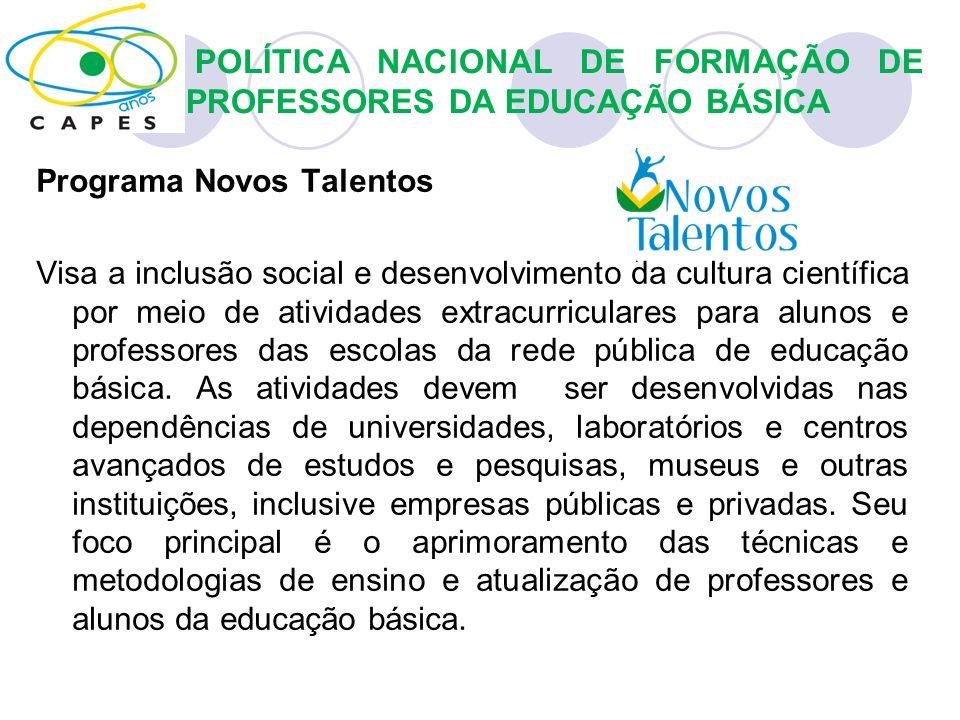POLÍTICA NACIONAL DE FORMAÇÃO DE PROFESSORES DA EDUCAÇÃO BÁSICA