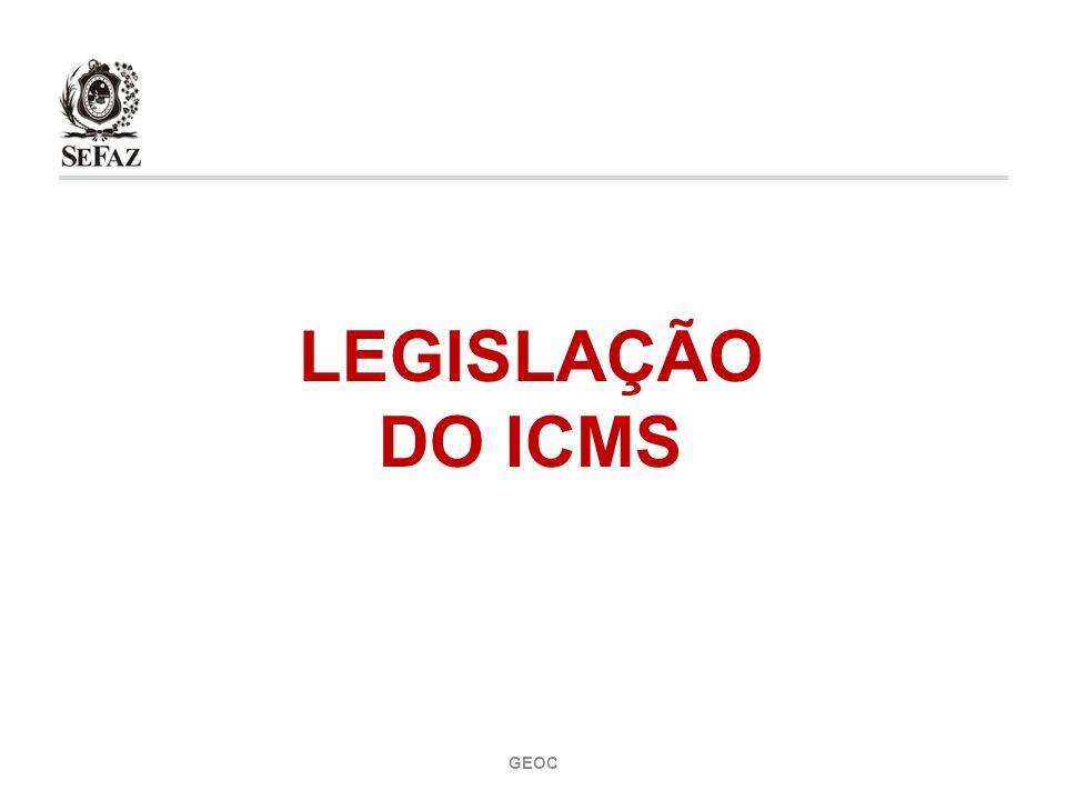 LEGISLAÇÃO DO ICMS GEOC 1