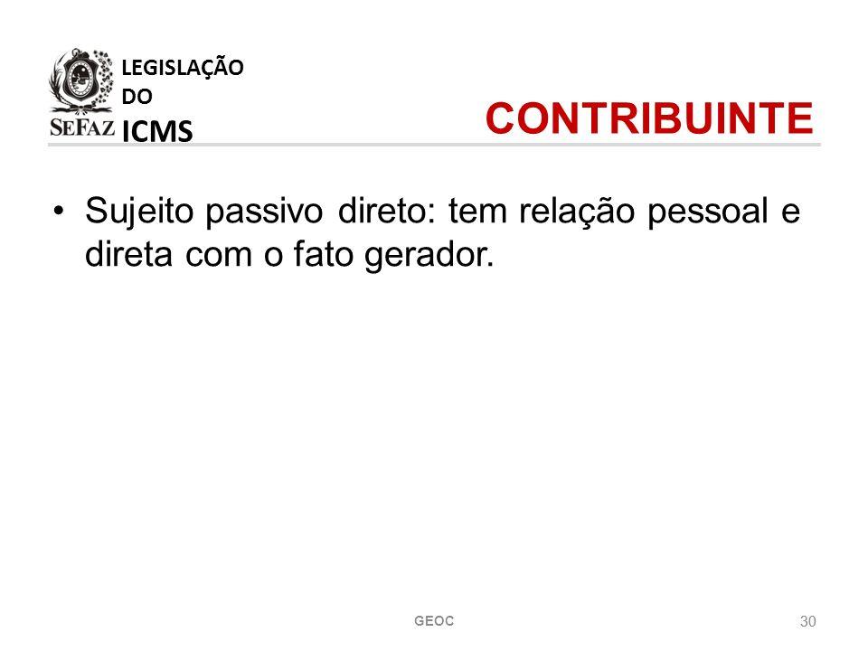 LEGISLAÇÃO DO ICMS CONTRIBUINTE