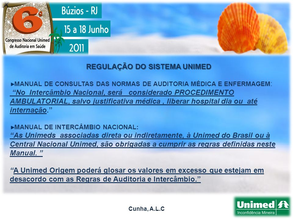 REGULAÇÃO DO SISTEMA UNIMED