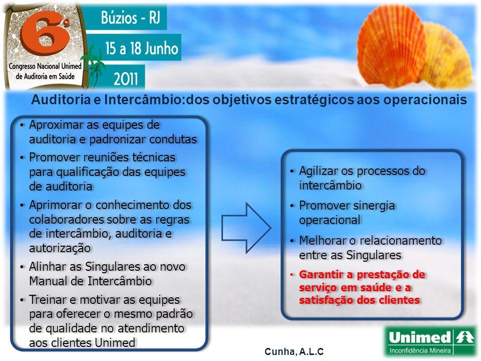 Auditoria e Intercâmbio:dos objetivos estratégicos aos operacionais