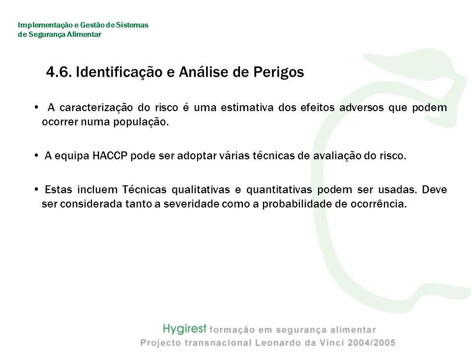 4.6. Identificação e Análise de Perigos
