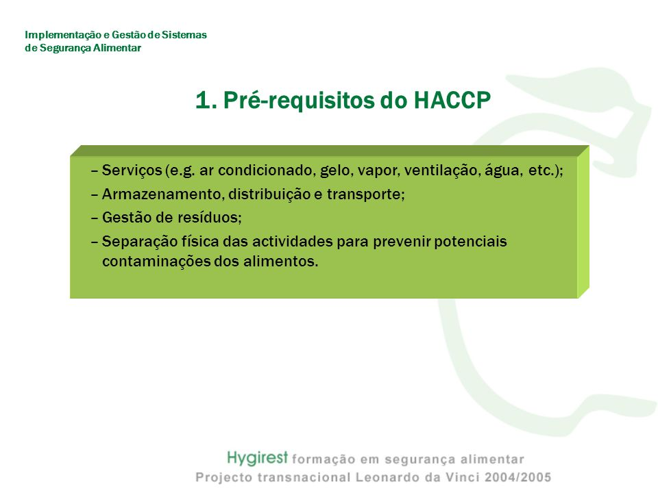 1. Pré-requisitos do HACCP