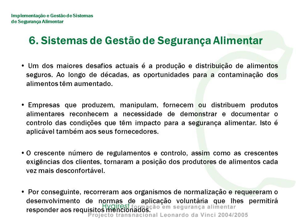 6. Sistemas de Gestão de Segurança Alimentar