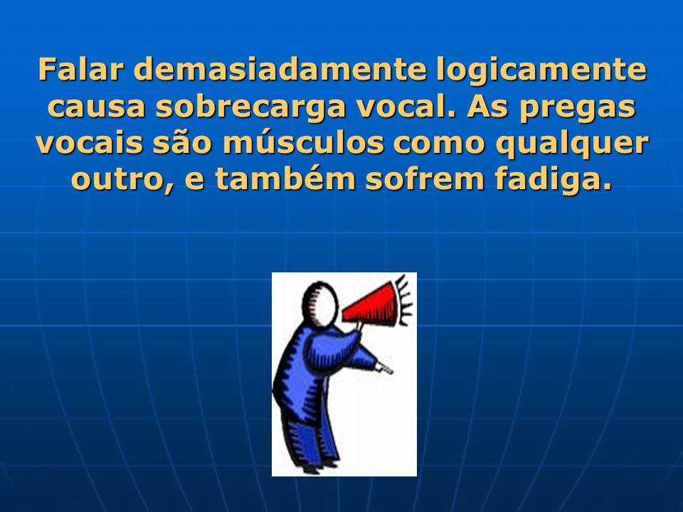 Falar demasiadamente logicamente causa sobrecarga vocal