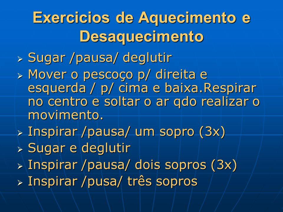 Exercicios de Aquecimento e Desaquecimento