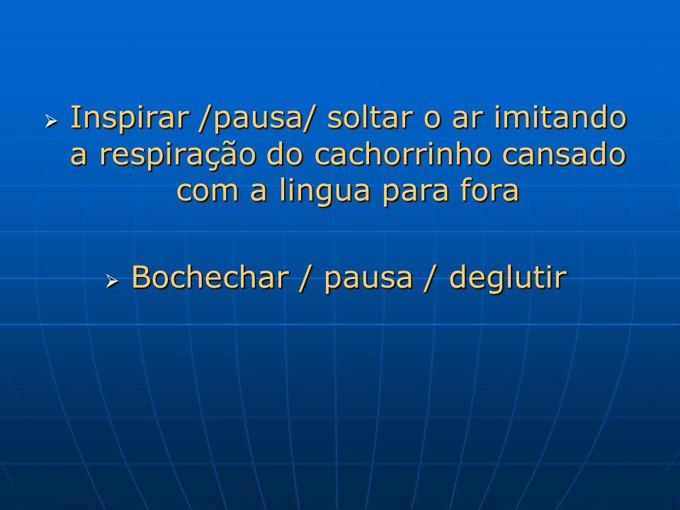 Bochechar / pausa / deglutir