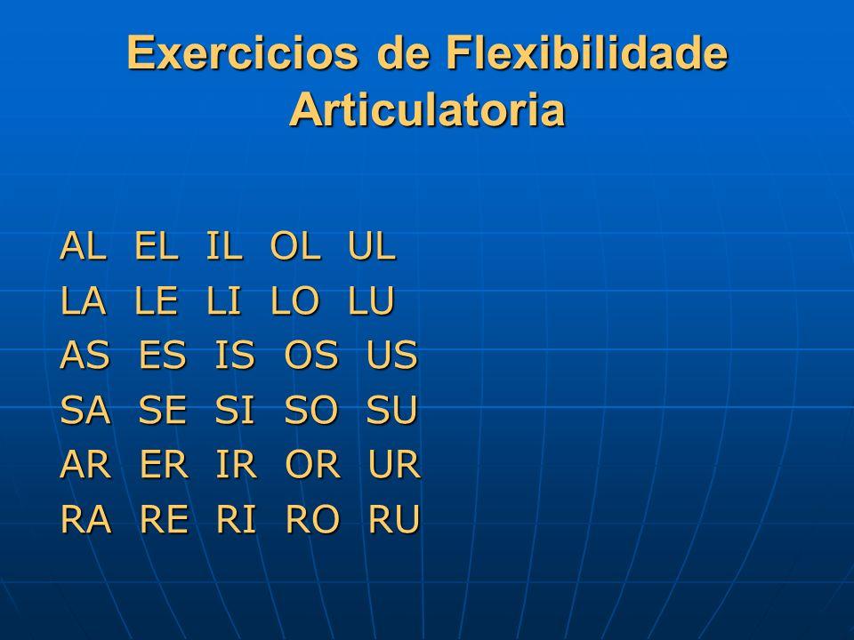 Exercicios de Flexibilidade Articulatoria