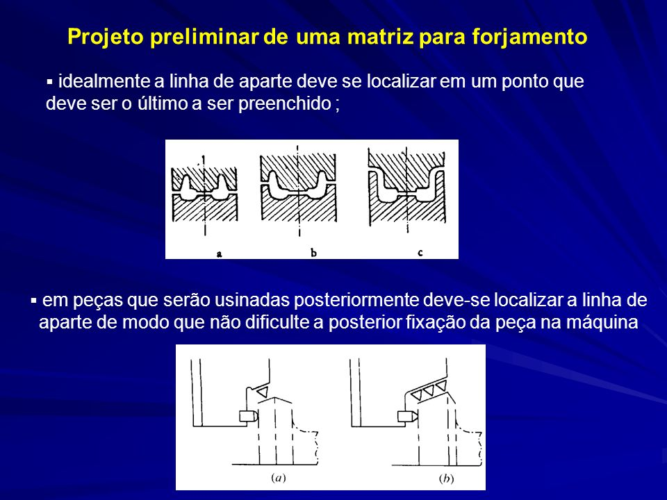 Projeto preliminar de uma matriz para forjamento
