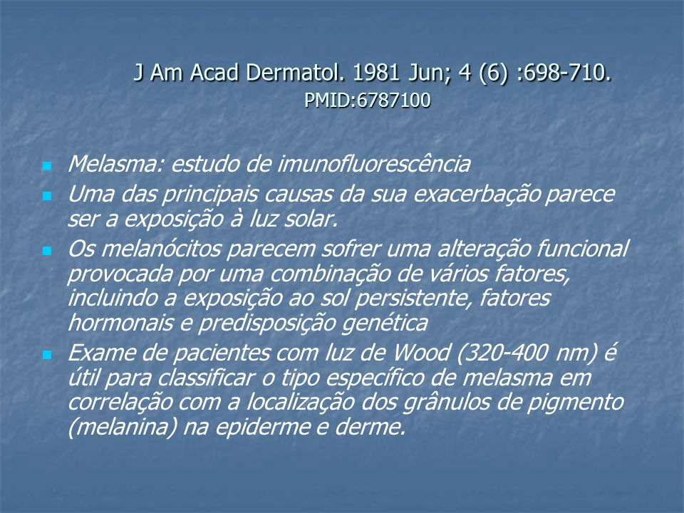 J Am Acad Dermatol. 1981 Jun; 4 (6) :698-710. PMID:6787100