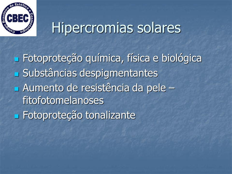Hipercromias solares Fotoproteção química, física e biológica
