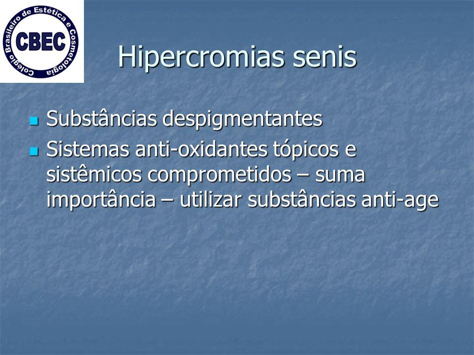 Hipercromias senis Substâncias despigmentantes