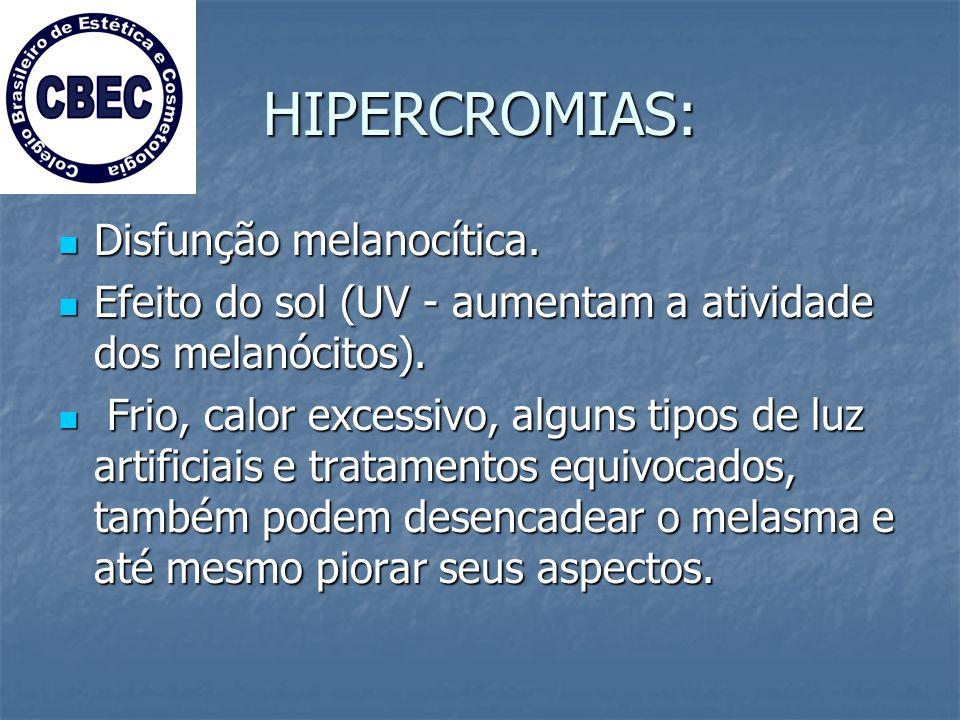HIPERCROMIAS: Disfunção melanocítica.