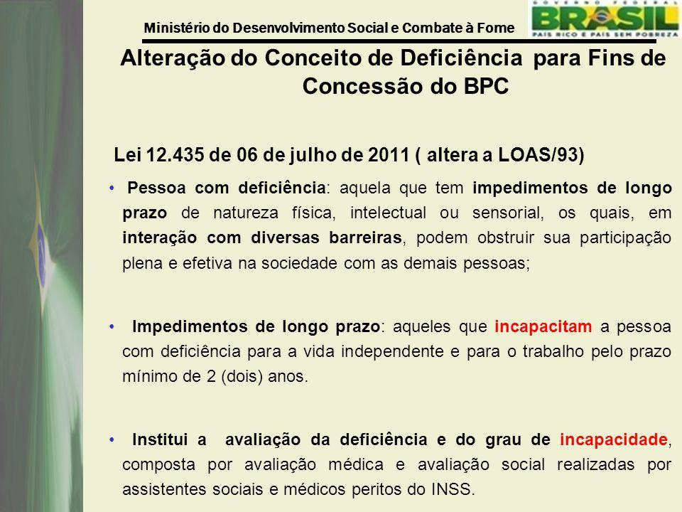 Alteração do Conceito de Deficiência para Fins de Concessão do BPC
