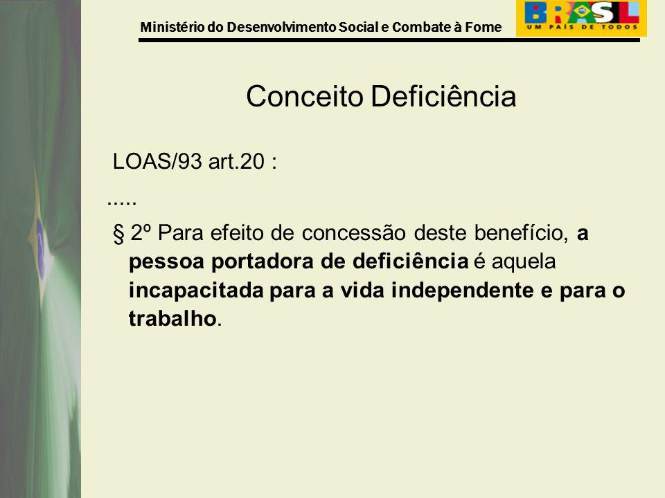 Conceito Deficiência LOAS/93 art.20 : .....