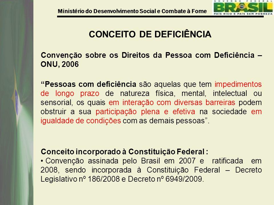 CONCEITO DE DEFICIÊNCIA