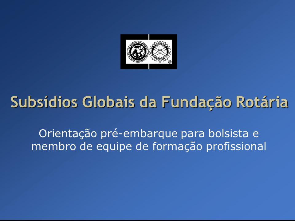 Subsídios Globais da Fundação Rotária
