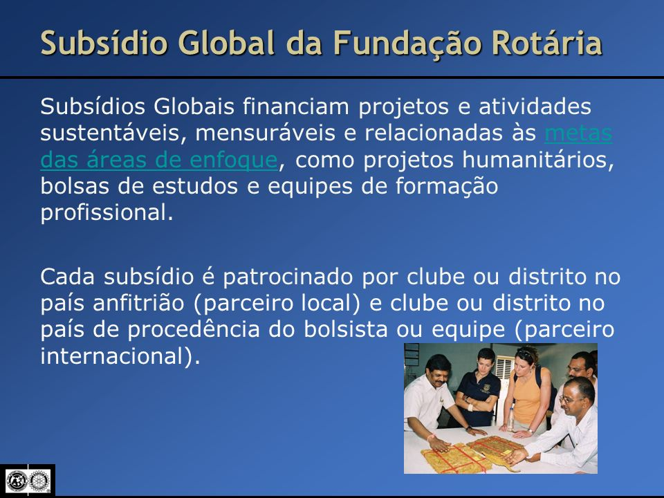 Subsídio Global da Fundação Rotária