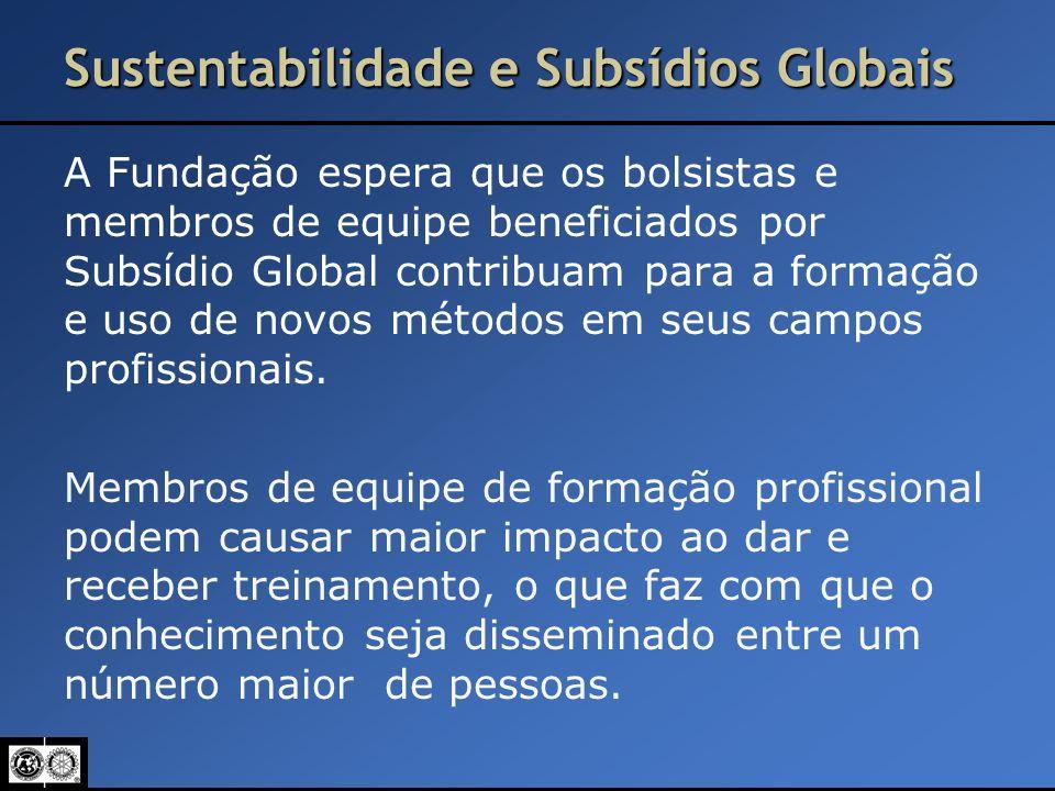 Sustentabilidade e Subsídios Globais