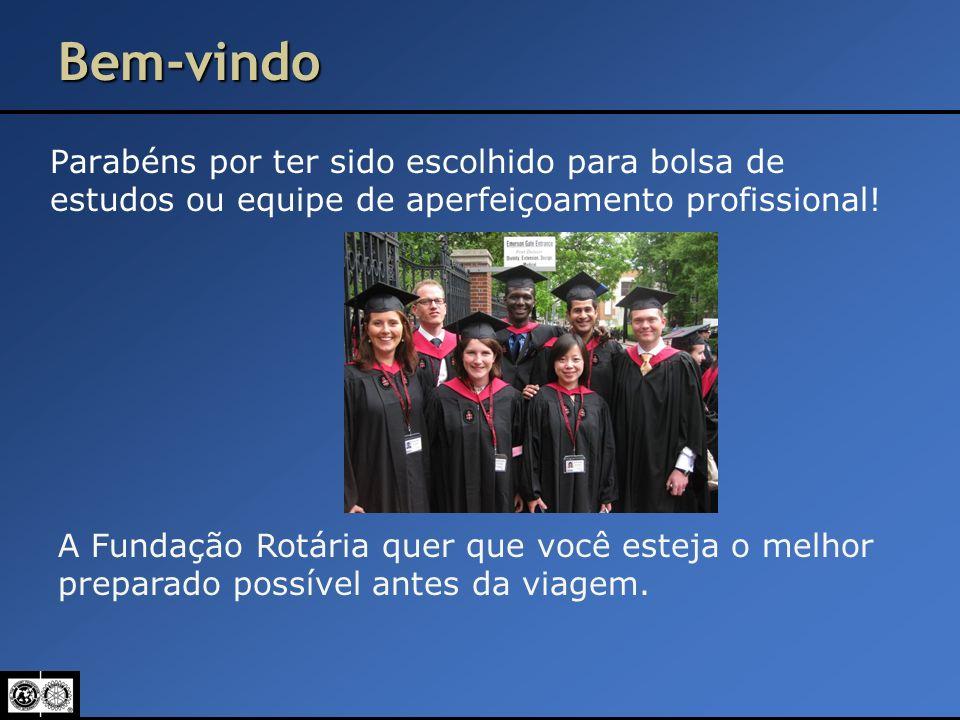 Bem-vindo Parabéns por ter sido escolhido para bolsa de estudos ou equipe de aperfeiçoamento profissional!