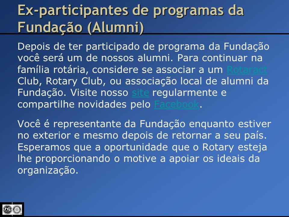 Ex-participantes de programas da Fundação (Alumni)