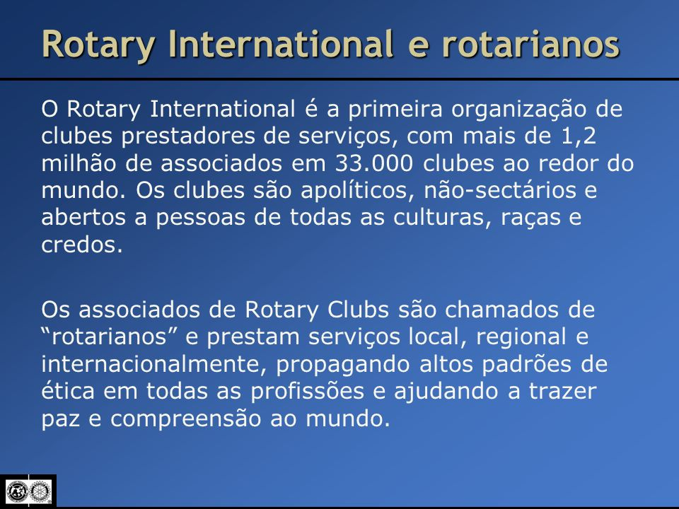 Rotary International e rotarianos