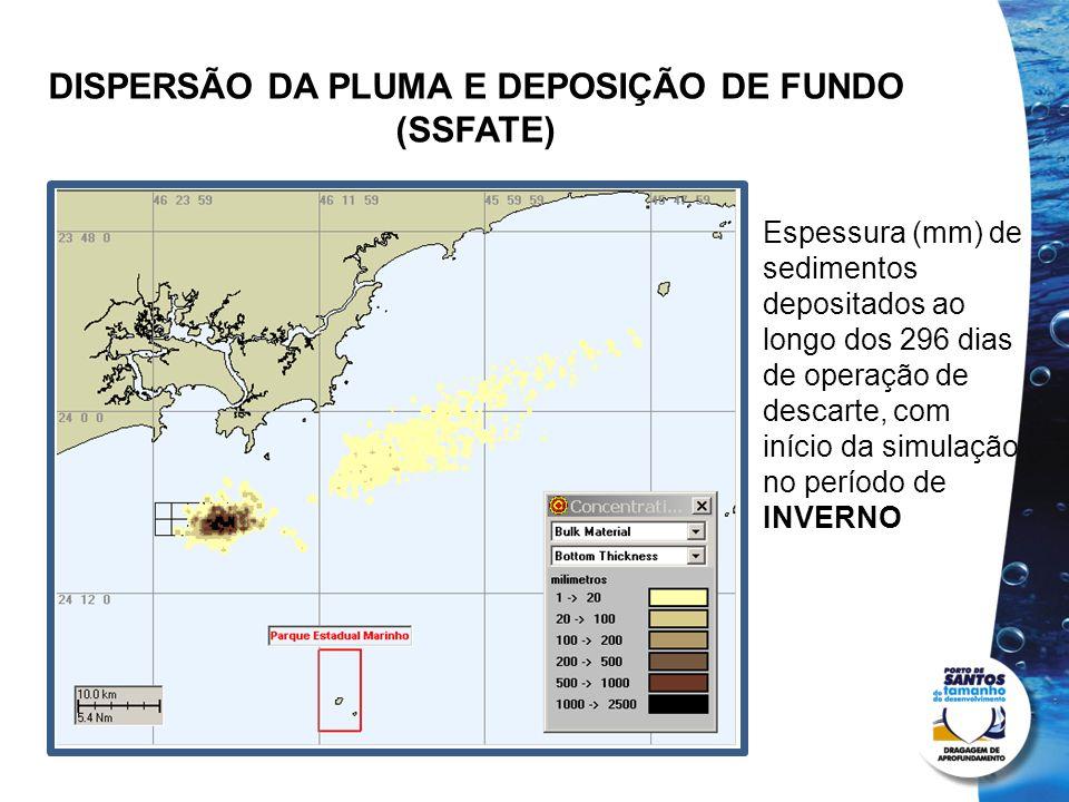 DISPERSÃO DA PLUMA E DEPOSIÇÃO DE FUNDO (SSFATE)