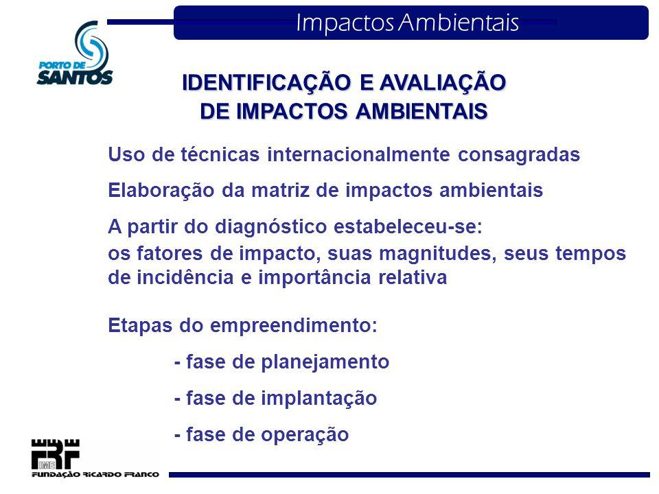 IDENTIFICAÇÃO E AVALIAÇÃO DE IMPACTOS AMBIENTAIS