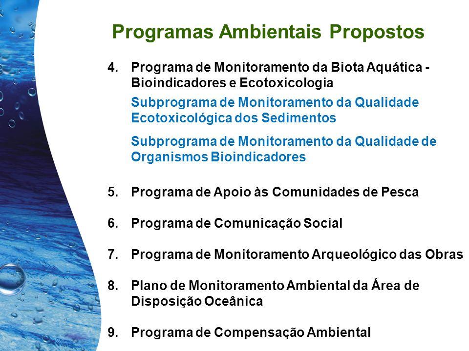 Programas Ambientais Propostos