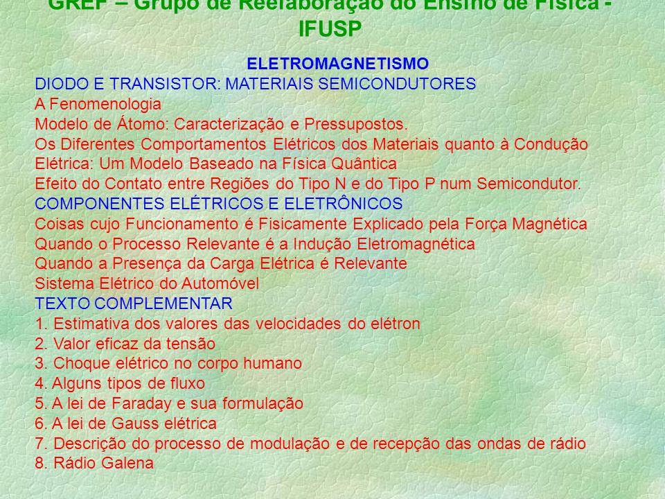 GREF – Grupo de Reelaboração do Ensino de Física -IFUSP