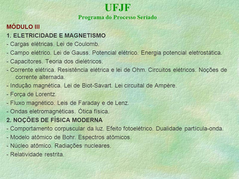 UFJF Programa do Processo Seriado