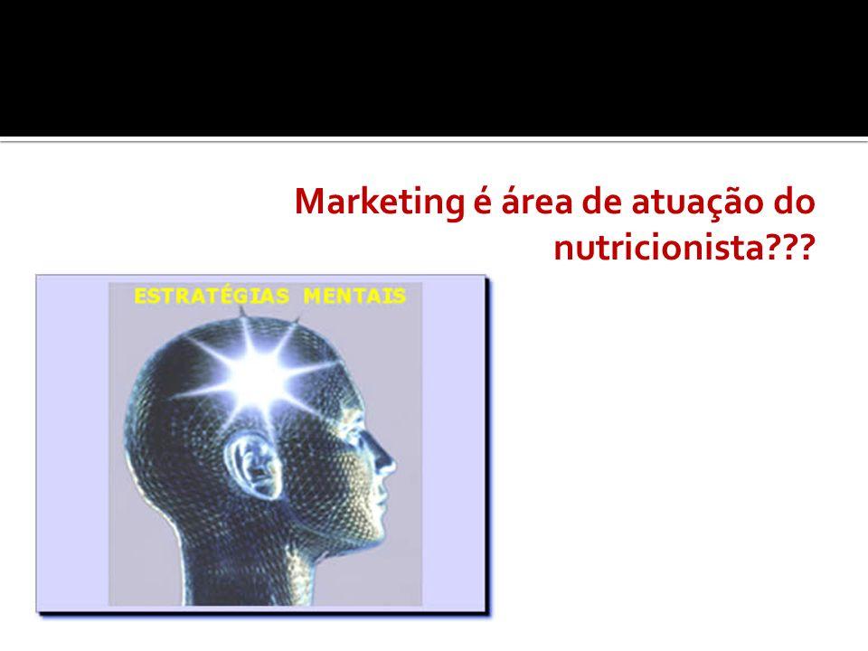 Marketing é área de atuação do nutricionista