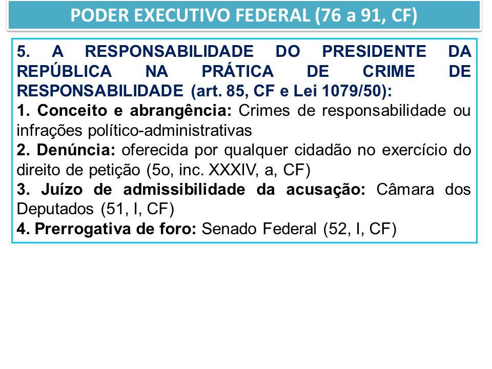 PODER EXECUTIVO FEDERAL (76 a 91, CF)