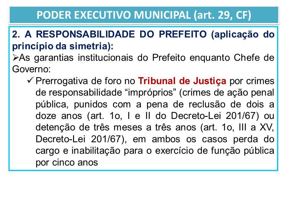 PODER EXECUTIVO MUNICIPAL (art. 29, CF)